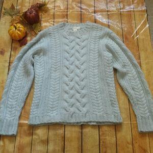 J. Crew Wool Angora Blend Sweater Size Large